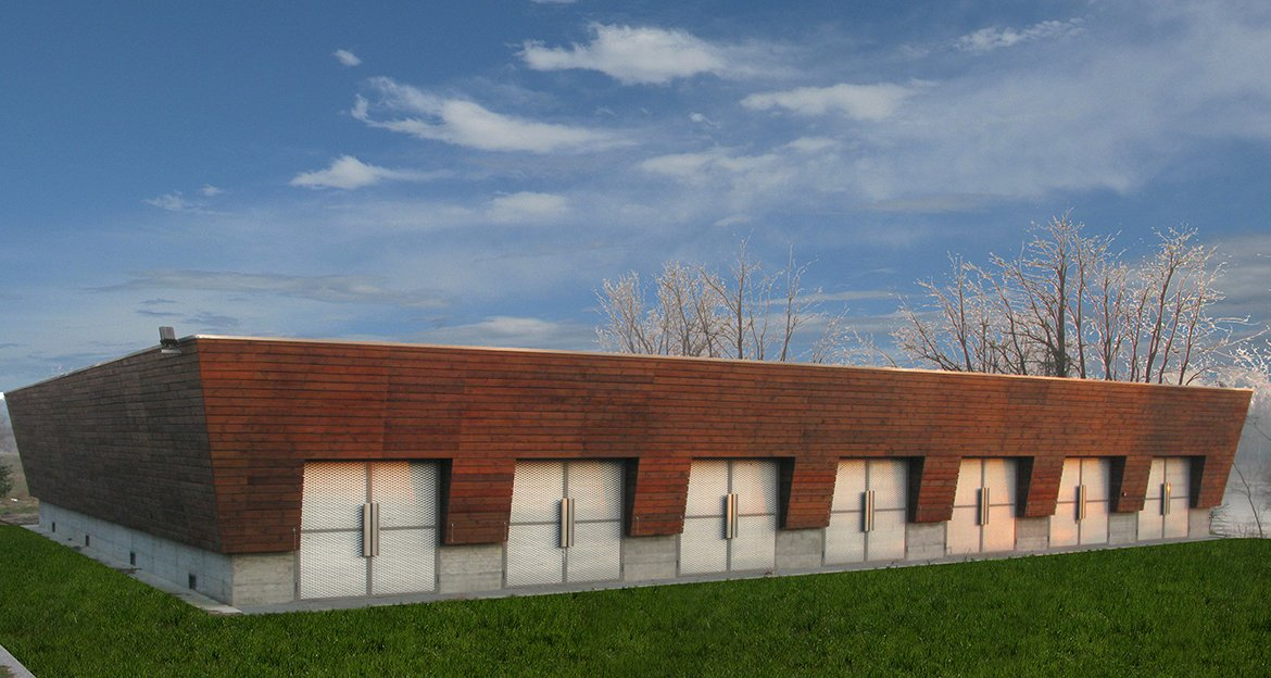 Storehouse for boats in the ticino park