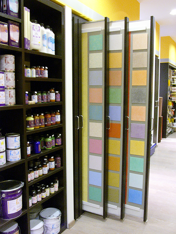 Colors, paintings interior finishings store L.P.M.A.