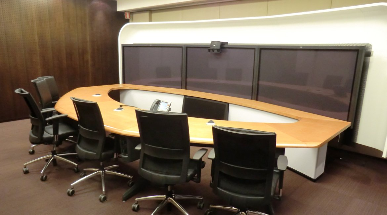Multinational telepresence room
