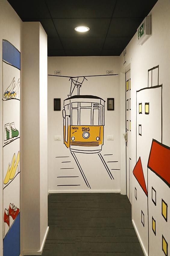 Cimarosa Residence corridors